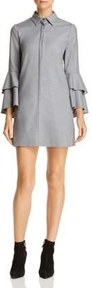 Alice + Olivia Jem Tiered-Sleeve Shirt Dress
