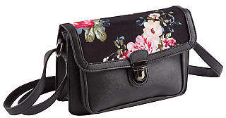 Joe Browns Womens Box Shoulder Bag with Floral Print and Clasp fastening