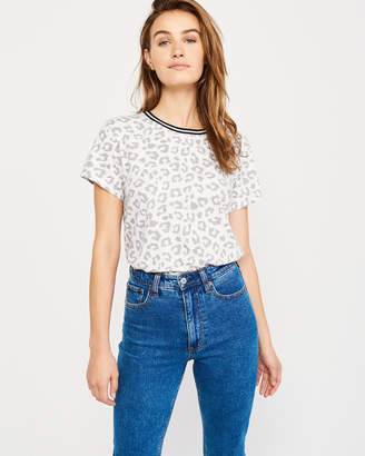 Abercrombie & Fitch Tipped Leopard Print Tee
