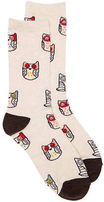 K. Bell Owl Crew Socks - Women's
