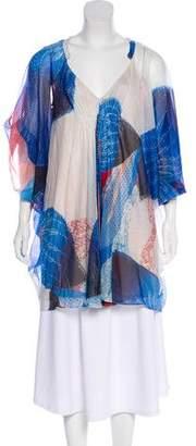 Diane von Furstenberg Fleurette Silk-Blend Mini Dress