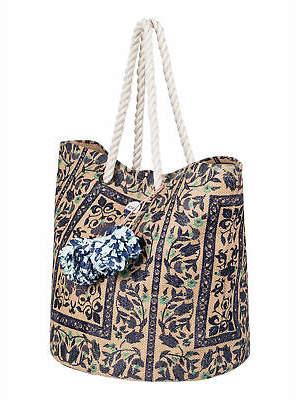 Roxy NEW ROXYTM Sun Seeker Straw Tote Beach Bag Womens Handbag