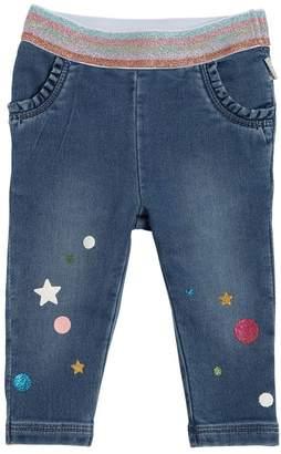 Little Marc Jacobs Cotton Denim Effect Pants