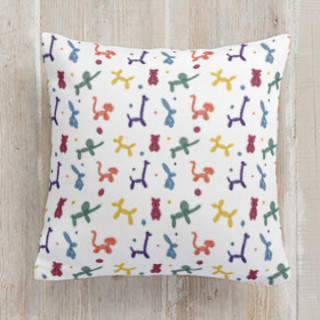 Bold Balloon Animals Square Pillow