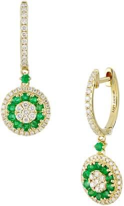 Bony Levy Diamond & Emerald Drop Earrings