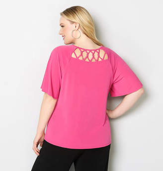 Avenue Knotted Criss Cross Back Top