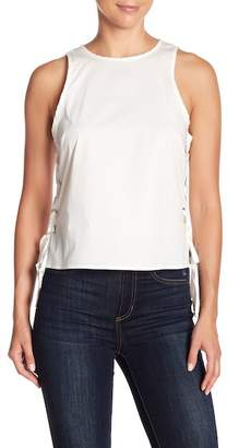 Ramy Brook Rory Side Lace-Up Tank Top