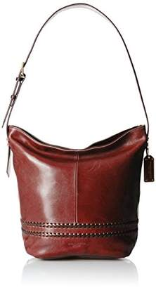 Tignanello Boho Classic Vintage Leather Bucket Bag