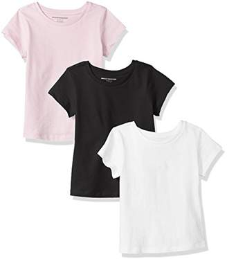 Amazon Essentials Girls' 3-Pack Short-Sleeve Tee