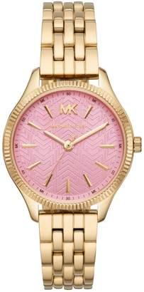 Michael Kors Lexington Goldtone Stainless Steel Bracelet 3-Hand Watch