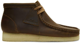 Clarks Brown Leather Wallabee Boots