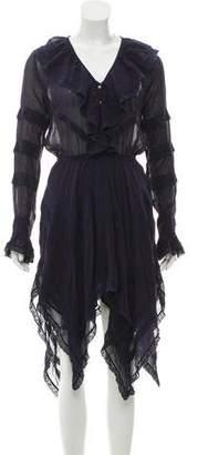 LoveShackFancy Ruffle Detail Midi Dress