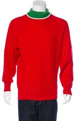 Gucci GG Web Wool Turtleneck Sweater
