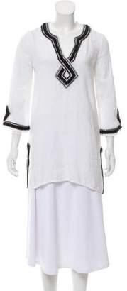 Calypso Linen Embellished Tunic