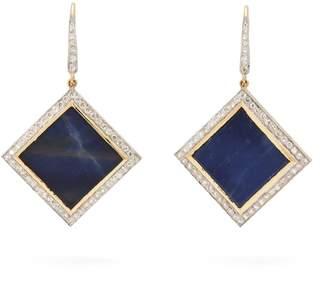 Jade Jagger 18kt gold, diamond & sapphire earrings