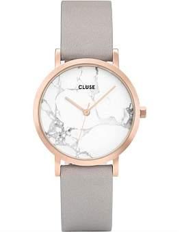 Cluse La Roche Petite Rose Gold White Marble Grey
