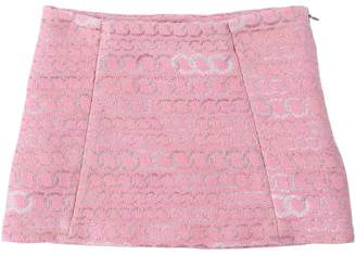 Lurex Jacquard Mini Skirt
