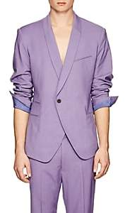Haider Ackermann MEN'S BASKET-WEAVE WOOL ONE-BUTTON SPORTCOAT-LILAC SIZE 50 EU