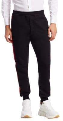 Alexander McQueen Side-Stripe Jogger Pants