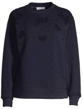 Sandro Bijoux Embellished Sweatshirt