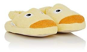 Yikes Twins Kids' Duck Cotton Terry Slippers-Yellow
