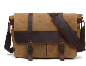 EAZO - Waxed Canvas Messenger In Brown