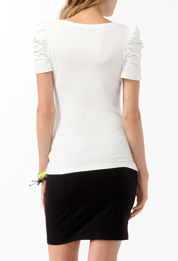 Forever 21 Puff Sleeve Top