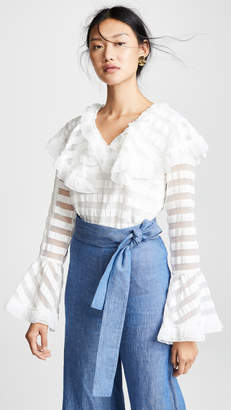 Endless Rose Striped Organza Top