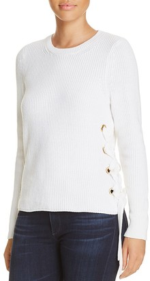 MICHAEL Michael Kors Lace-Up Side Ribbed Sweater $110 thestylecure.com