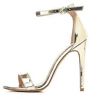 Metallic Two-Piece Dress Sandals $28.99 thestylecure.com