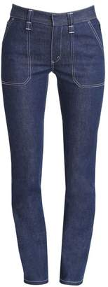 Chloé Straight-Leg Stretch-Cotton Jeans