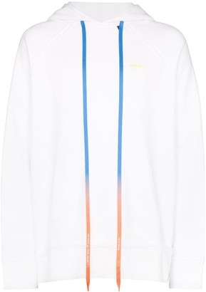 Off-White arrow logo print hoodie