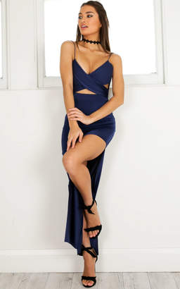 Showpo Your Love Is Beautiful maxi dress in navy