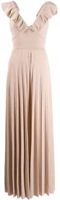 Soallure SO ALLURE lurex wide leg jumpsuit