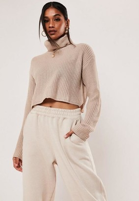 Missguided Tall Stone Turtle Neck Sweater