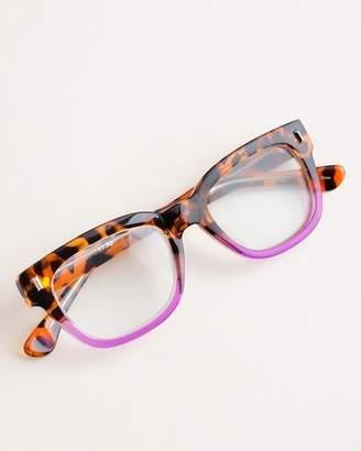 Chico's Chicos Purple Faux-Tortoiseshell Rectangular Reading Glasses