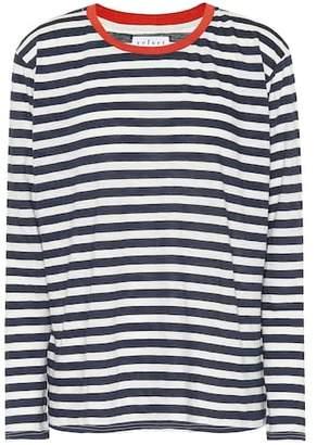 Velvet Renny striped cotton-blend top