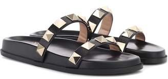 Valentino leather slides