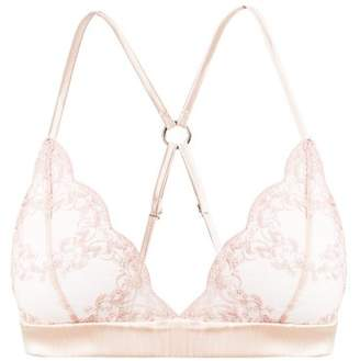 980f27bd45 Fleur of England Antoinette Lace And Tulle Soft Cup Bra - Womens - Light  Pink