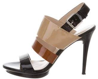 KORS Patent Leather Slingback Sandals