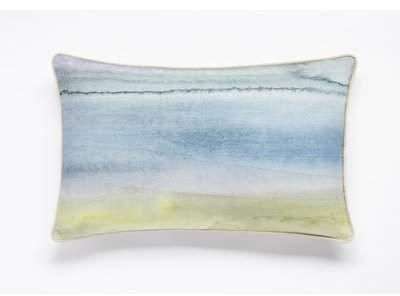 Wayfair Center Drive Watercolor Print Lumbar Pillow