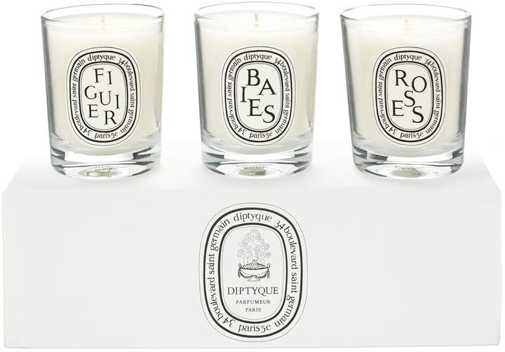 3 Candle Set - Baies, Figuier, Roses by 7.2oz Candles)