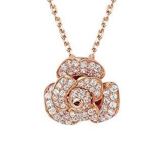 L・I・U Fei Liu Fine Jewellery Women Cubic Zirconia Chain Necklace of Length 20cm PEO-925P-303-CZ00