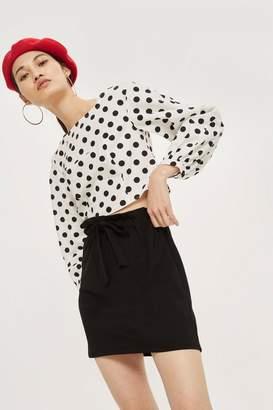 Topshop Jersey Mini Skirt