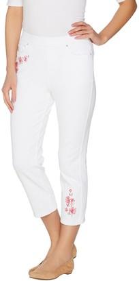 Belle By Kim Gravel Belle by Kim Gravel Flexibelle Embroidered Pull-On Jeans