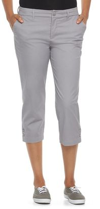 Women's Croft & Barrow® Essential Button-Hem Twill Capris $36 thestylecure.com