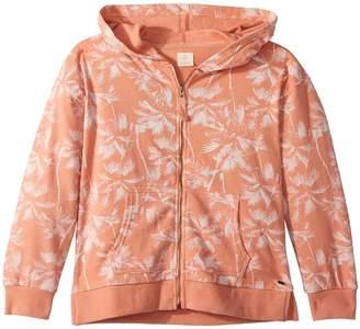 O'Neill Kids Palmness Print Long Sleeve Fleece Hoodie Girl's Fleece