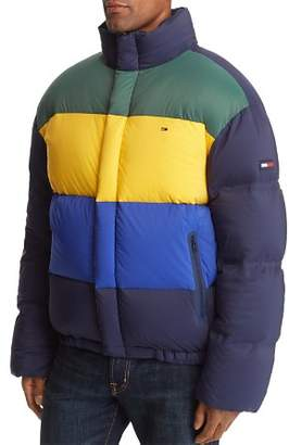 Tommy Jeans Oversized Color-Block Puffer Jacket