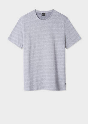 Paul Smith Men's Navy And White Flecked Cotton T-Shirt