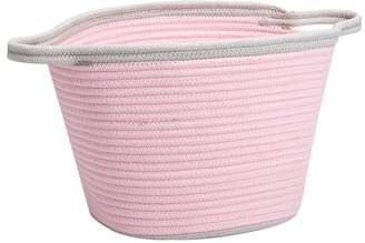 Pottery Barn Kids Pink Cotton Rope Basket, Small
